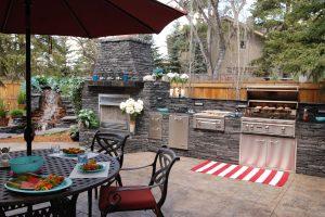 Backyard, Outdoor, Kitchen, Landscape, Design